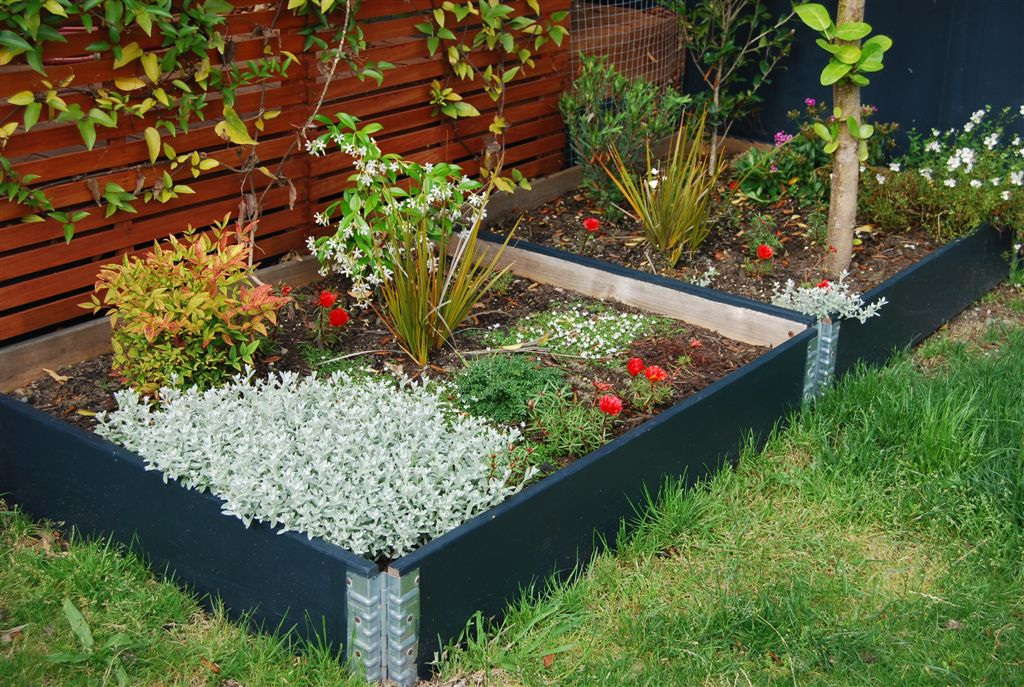 Pallet Collars used as Raised Garden Beds